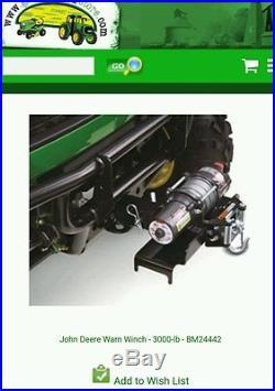 John Deere Gator Warn Winch 3,000lbs XUV BM24442