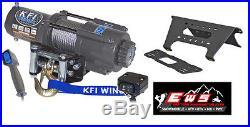 John Deere Gator Xuv 625i /825i /855d Kfi 4500lb Winch & Mount 2011-2015