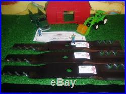John Deere M143504 (B10)3 FUSION Gator Blades, 62 cut. Fits X749, Z465 etc
