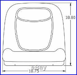 John Deere Pair (2) Black Vinyl Seats fits Gator 6X4 Serial # 20789 & UP