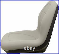 John Deere Pair (2) Gray Vinyl Seats fits Gator 6X4 Serial # 20789 & UP