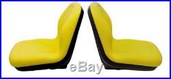 John Deere Pair (2) Yellow Vinyl Seats fits Gator 6X4 Serial # 20789 & UP