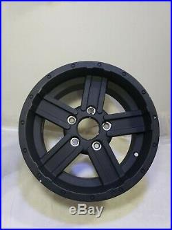 John Deere RSX 825i Gator Rim 14x7 5 bolt aluminum alloy wheel Oem black