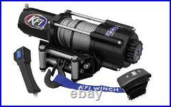 KFI U45w-R2 4500lb wide winch & winch combo kit John Deere Gator XUV 825/855