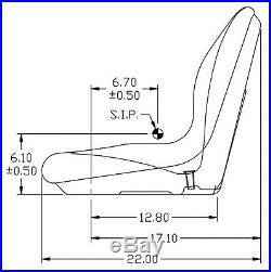 Milsco XB180 Gray Seat Fits John Deere Gators and Lawn Mowers Toro Scag etc