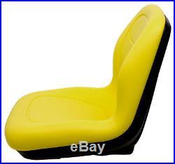 Milsco XB180 Yellow Seat Fits John Deere Gators and Lawn Mowers Toro Scag etc