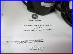 NEW JOHN DEERE BEACON LIGHT KIT FOR GATORS RSX, XUV, HPX, 550,550 S4,625i BM24013
