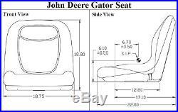 New 19 John Deere Tractor Yellow Seat 325 2210 4200 4300 4310 4400 4500 Gator +