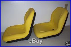 PAIR of HIGH BACK SEATS JOHN DEERE GATORS, HPX 4X4, 4X2,6X4, XUV 850D, TX, TH #JR