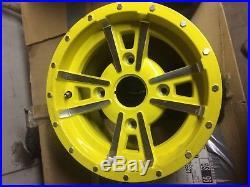 Rear yellow alloy wheel for John Deere XUV 550 Gators M161467 / M175223