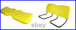 Replacement Seat Bottom and Back for John Deere Gator HPX & XUV Gators Yellow