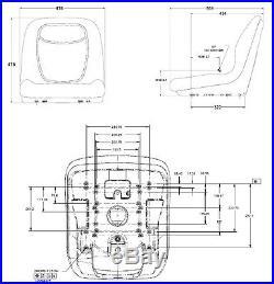 Sitzschale Schleppersitz passend für John Deere Rasentraktor Aufsitzmäher Gator