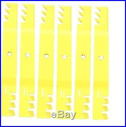 Six(6) John Deere 42 Xtreme Gator Mower Blades M154061 Gx22151 Gy20850