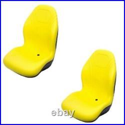 Two (2) High Back Yellow Seats 625I 825I 855D 550 850I 6x4 Fits John Deere Gator