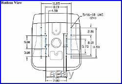 Yellow HIGH BACK SEAT with Pivot Rod Bracket for John Deere Gator CS CX Utility