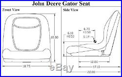 Yellow Vinyl Gator Mower Bucket Seat Fits JD John Deere X300 X300R X304 X320